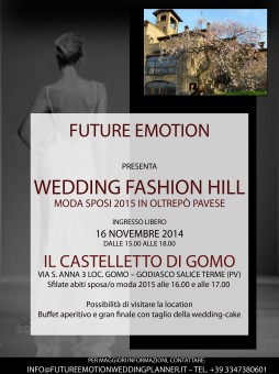 Future Emotion presenta l'evento Wedding Fashion Hill