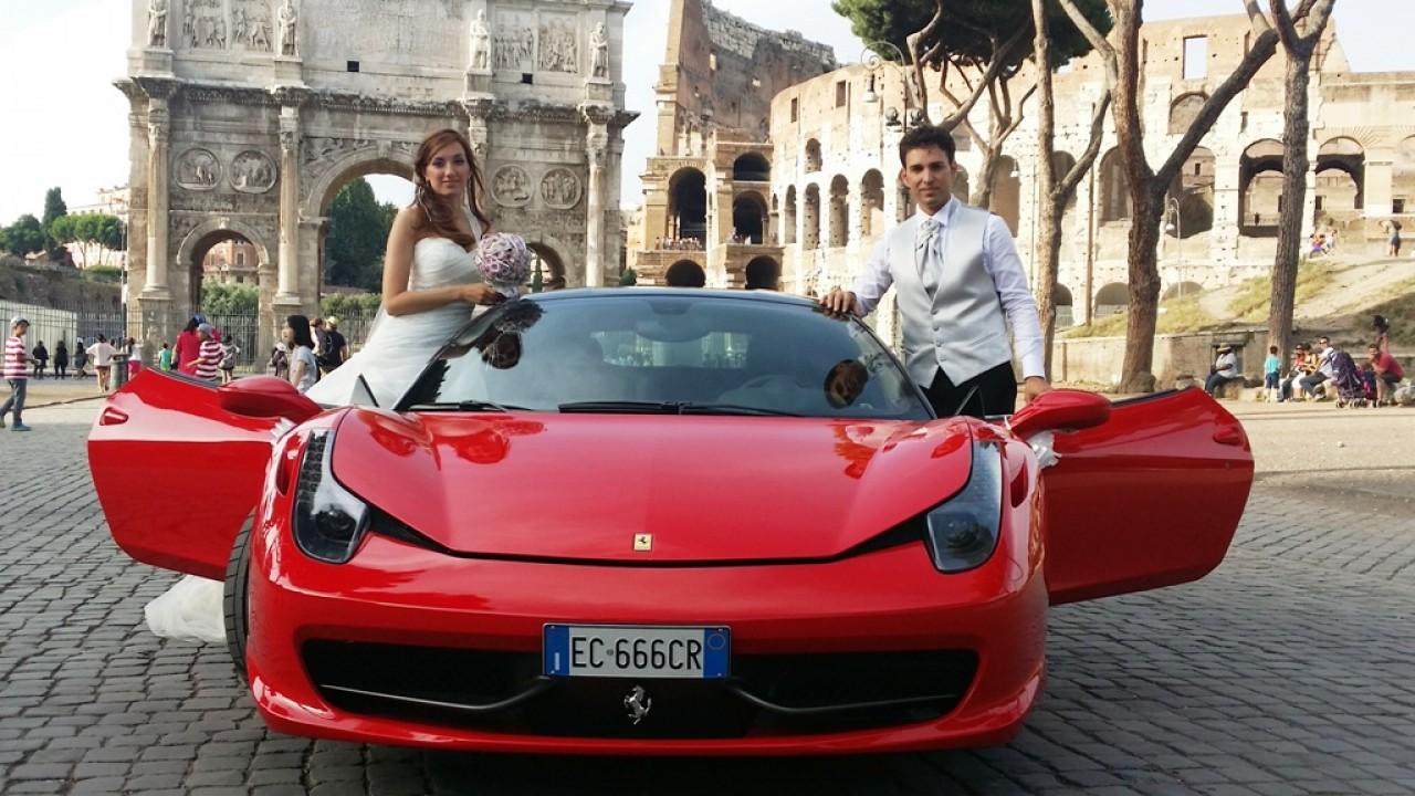 Matrimonio In Ferrari : Canestri autonoleggi per matrimonio italiano